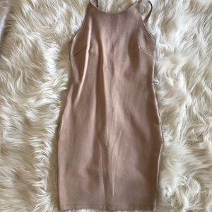 Strap bodycon mini dress